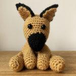 amigurumi German Shepherd dog crochet pattern