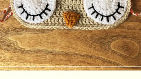 Chicken Sleep mask free crochet pattern