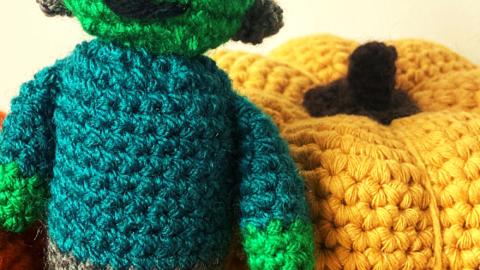 Frankenstein amigurumi free crochet pattern