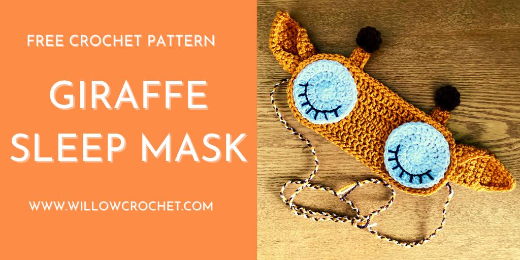Free giraffe sleep mask crochet pattern
