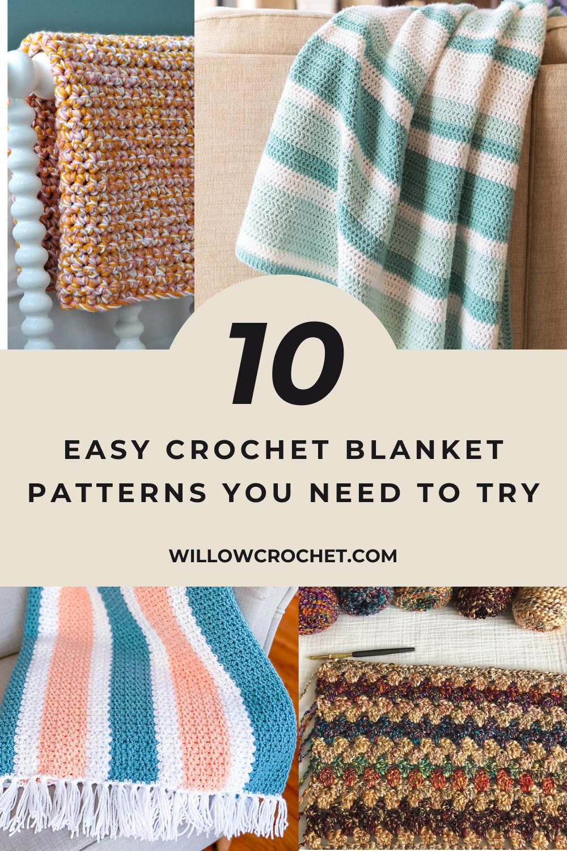 Free easy beginner crochet blanket patterns