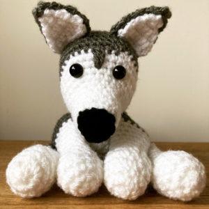 Husky dog soft stuffed toy plushie handmade crochet
