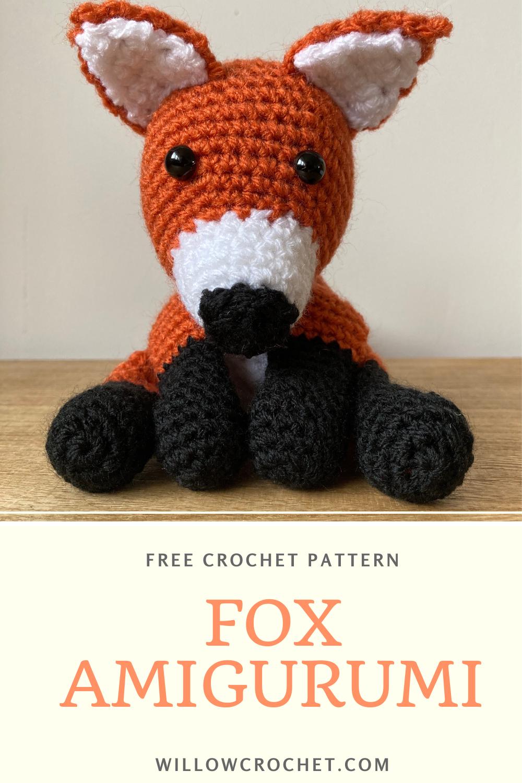 Free Amigurumi fox crochet pattern