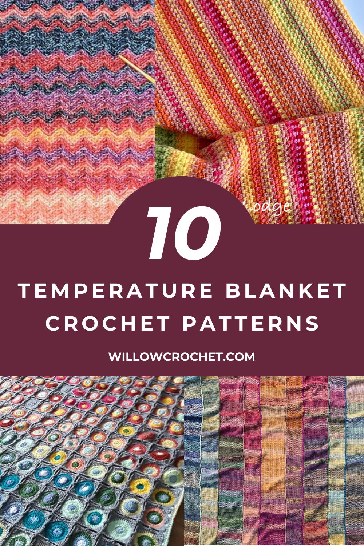 Ten temperature blanket crochet pattern